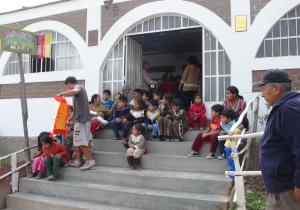 Gemeinschaftsküche im Armenviertel Calizal Peru